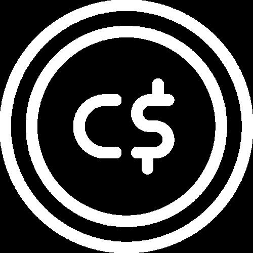 Rental price in CAD