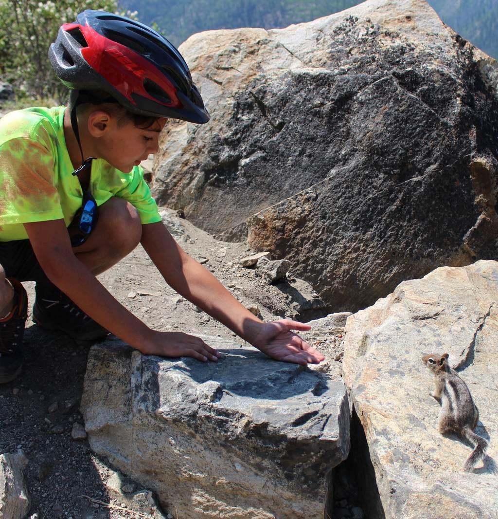 Myra Canyon cyclist