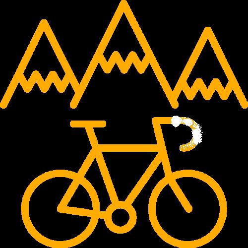 Bicycle tour through mountains