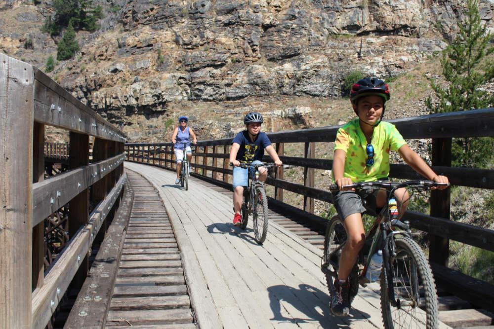 Myra Canyon bike ride with family
